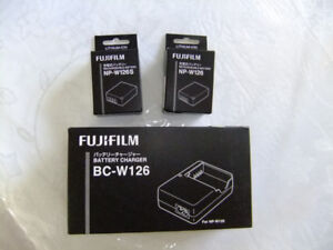 BC W 126 Fuji Charger NEW and 126 S Battery Both NEW in Boxes
