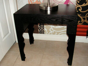 STYLISH BLACK ACCENT TABLE