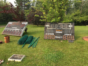 Free  -  2 score boards with controllers.