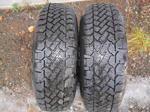 2 Snow Tracker radial winter tires P- 235/ 75 R 15  for sale.