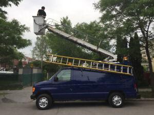 camion nacelle 32 pied de hauteur a louer en location avec opéra