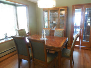 WILL SELL SEPARATELY MAHOGANY TABLE/CHAIRS AND CABINET