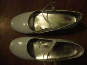 White Mary Janes - Size 5