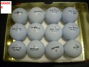RECYCLED GOLF BALLS GRADES B AND C FOR SALE
