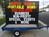 Portable Signs -Self Employed Opertunity
