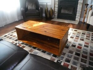 coffee table made out of crate from 1940's