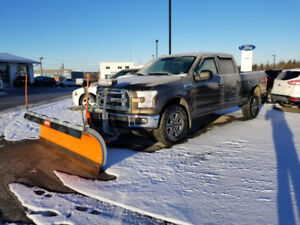 2015 Ford F-150 crew cab with plow