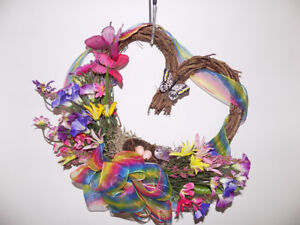 Heart Shaped Floral Decorative Wreath