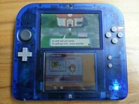 2ds crystal blue with pokemon saphire