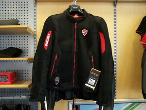 Ducati Jacket Fabric Flow 2 2015 Black        NEW! 981027955
