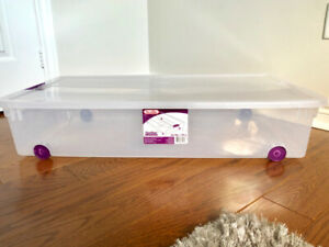 4 X Wheeled Underbed Box (Clear)