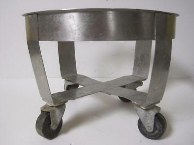 Lipshaw Cart Round 4 Wheel 12 Diameter Laboratory Lab Stainless Steel Dolly