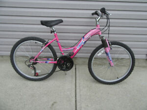 """Pink Tech Team  24"""" Alloy Wheels, Suspension , Small Frame"""