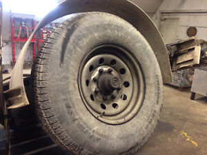 8000lb. Trailer axel with tires and rims