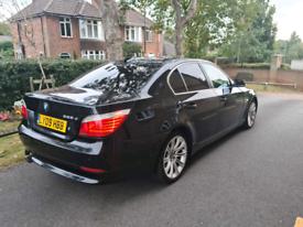 BMW 2009 520D 175 BHP Saloon Black, FSH, Drive Superb, 2x Keys