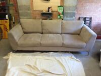 Heals 3 seater sofa