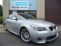 2006 (56) BMW 525d M SPORT AUTO, SAT NAV, FULL LEATHER, PARKING SENSORS, CRUISE.