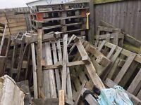 30-40 broken wooden Pallets - Poss Fire Wood? FREE