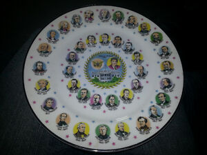 AWESOME PLATE WITH PICS AND DATES OF EVERY AMERICAN PRESIDENT 7$ London Ontario image 1