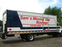 SAM'S MOVING COMPANY , FULLY INSURED, WE HAVE A AT BBB