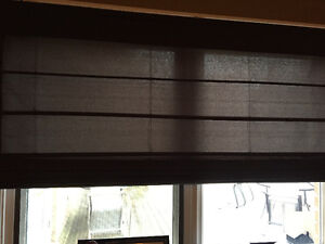 2 Roman Shade Blinds (lined) - 1 Brand New 60 x 64