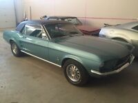 1967 FORD MUSTANG COUPE RARE CLEARWATER AQUA METALLIC