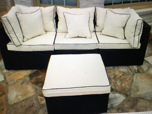 Brand New! Outdoor Wicker Set With Cushions - 2 Complete Sets