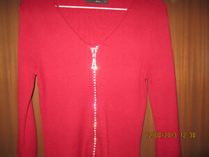 womens red sweater