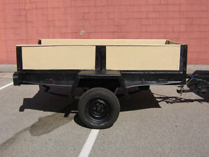 TRAILER HEAVY DUTY  ARMY STYLE   4` X 8`  negotiable avail