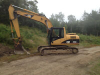 315cl 9300 hours quick conect bucket works good