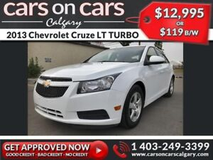 2013 Chevrolet Cruze LT TURBO w/Leather, BackUp Cam $119 B/W INS
