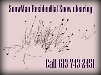 Snow Clearing Services - The Snowman