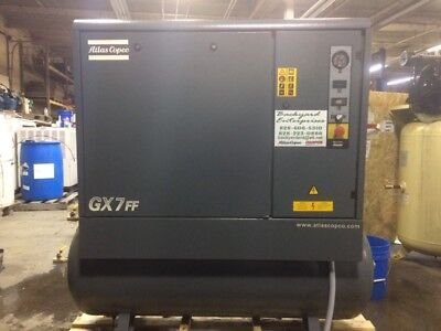 2005 Atlas Copco Gx7ff 10 Hp Rotary Screw Air Compressor With Dryer