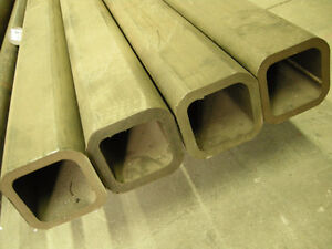 """2PCS 4"""" x 4"""" x 12' - 1/2"""" THICK SQUARE STRUCTURAL TUBE RECTANGLE"""