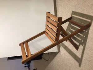 4x folding timber chairs