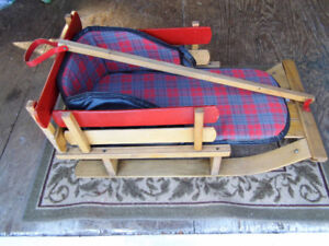 antique childs wood sled