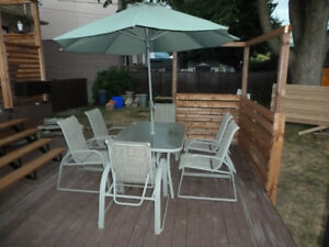 set patio - table et 6 chaises
