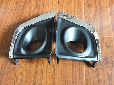 Fog Light Lamp Bumper Bezel Cover Pair For Toyota Corolla EU Version 2014-2016