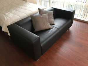 Black Ikea couch for sale,