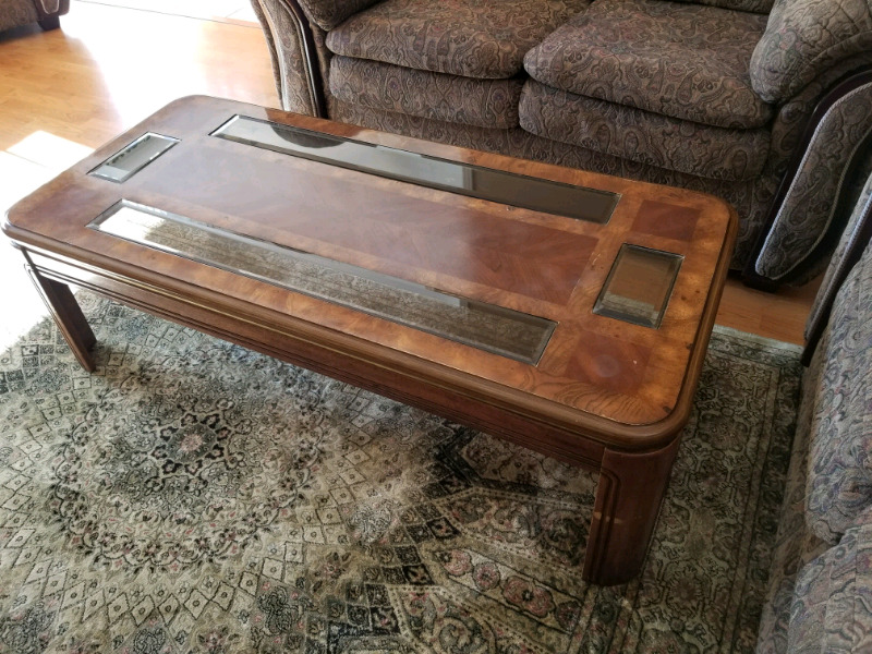 solid wood coffee table with matching side tables | coffee tables