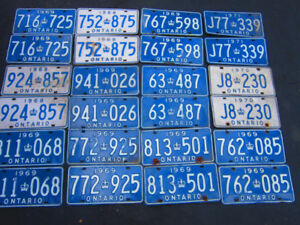 Vintage License Plate Pairs for Classic and Antique Vehicles $45