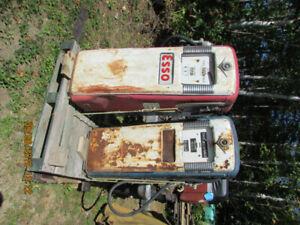 Two 1954 Gilbert & Barker gas pumps