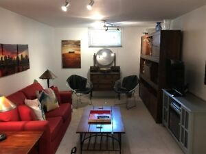 Basement suite, furnished,  available in Sherwood Park