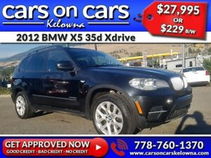 2012 BMW X5 35d Xdrive w/Leather, PanoRoof, BackUp Cam $229B/W I