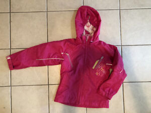 CRUSH Girl's Pink Spring / Fall Fleeced-Lined Jacket Coat Size 8