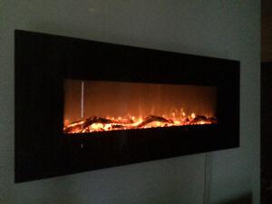 Electric Fireplace Foyer electrique noir