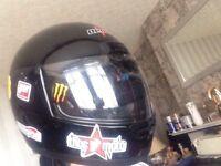 Medium motorcycle helmet