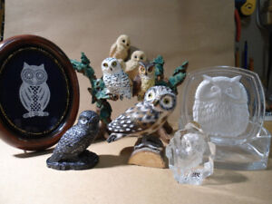 Owl Collection 7 ornaments real Variety Excellent Value
