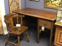 Antique Desk With Captains Chair - Can deliver