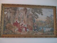 ANTIQUE LOOKING FRAMED TAPESTRIES